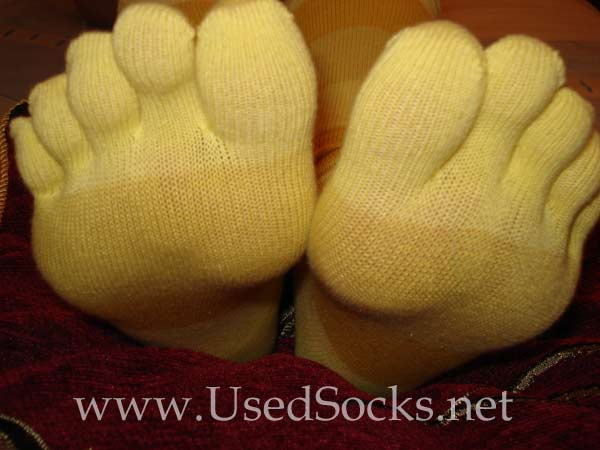 used socks holes