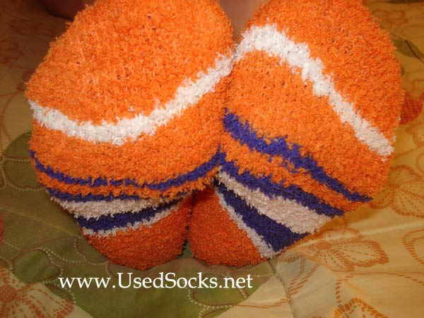 used warm terrycloth socks