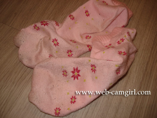 used pink socks