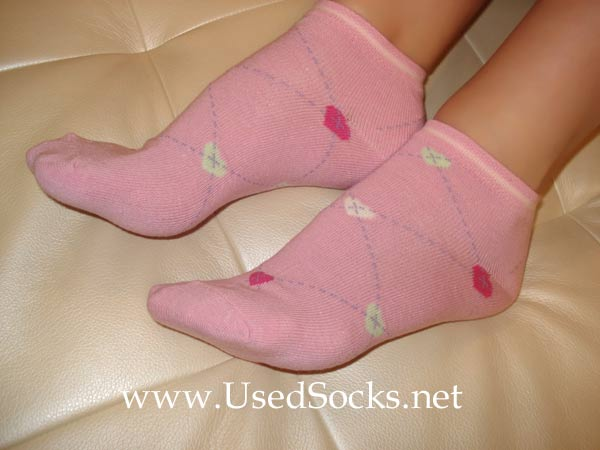 used cotton socks